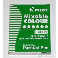 Pozostałe przybory do pisania, 6 nabojów do pióra Parallel Pen Zielony