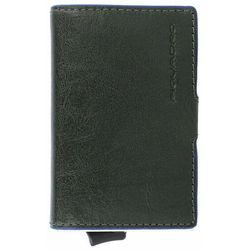 Piquadro B2S Etui na karty bankowe RFID skórzana 6,5 cm green ZAPISZ SIĘ DO NASZEGO NEWSLETTERA, A OTRZYMASZ VOUCHER Z 15% ZNIŻKĄ
