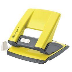 Dziurkacz KANGARO Aion-20/S, dziurkuje do 20 kartek, metalowy, w pudełku PP, żółty