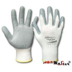 Rękawice robocze ochronne z nylonu powlekane pianką nitrylową HYFLEX 11-800 kat. 2 11