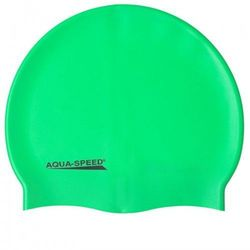 Czepek pływacki silikonowy Aqua Speed Mega zielony