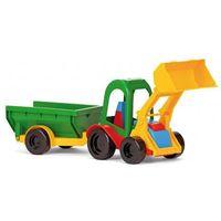 Traktory dla dzieci, Auto z przyczepą i traktor z łyżką i przyczepą mix