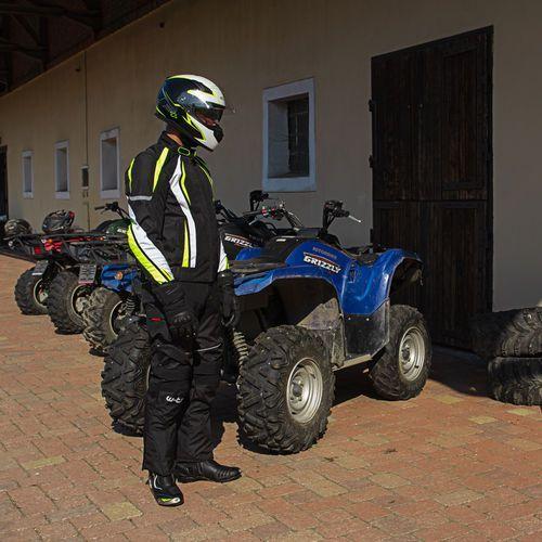 Buty motocyklowe, Skórzane buty motocyklowe W-TEC Hernot W-3015, Czarny-fluo żółty, 42