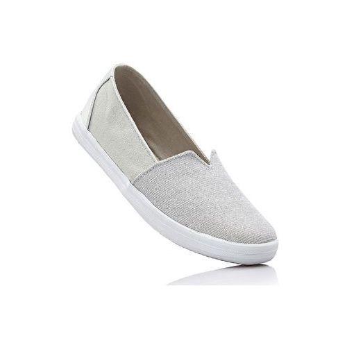 Damskie obuwie sportowe, Buty sportowe wsuwane bonprix srebrny