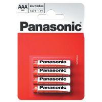 Baterie, bateria cynkowo-węglowa Panasonic R03 AAA (blister)