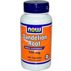 Mniszek lekarski ekstrakt Dandelion Root 500mg 100 kapsułek NOW FOODS