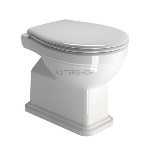 Deski i pokrywy do toalet, CLASSIC miska WC Kombi stojąca, odpływ poziomy 37x54 cm 871111