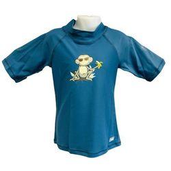 Koszulka kąpielowa bluzka dzieci 130cm filtrem UV50+ - Petrol Jungle \ 130cm