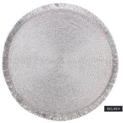 SELSEY Podkładka pod talerz Ilja średnica 38 cm srebrna