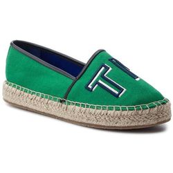 Espadryle TOMMY HILFIGER - Colorful Tommy Flat Espadrille FW0FW04166 Jelly Bean 321