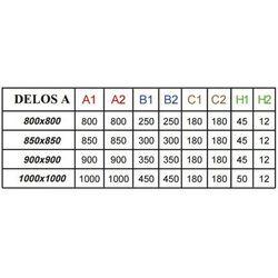 Brodzik półokrągły akrylowy Radaway Delos A 80x80x4,5 - SDA0808-01