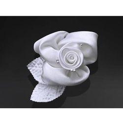 Różyczki białe na przyssawkach na samochód - 6,5 cm - 10 szt.