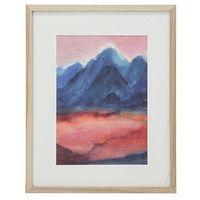 Obrazy, HKliving Mały obraz w ramce rozmiar L: Zachód słońca AWD8870