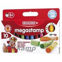 Mazaki i flamastry, Mazaki Megastamp 10 kol. FIBRACOLOR