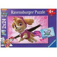 Puzzle, Puzzle 2x24 elementy - Psi Patrol Skye i Everest - Ravensburger