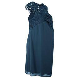 Sukienka ciążowa na uroczyste okazje bonprix ciemnoniebieski