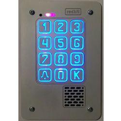 Panel cyfrowy domofonu jednorodzinnego z szyfratorem RADBIT KEC-1P GD36 PT MINI