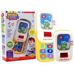 Telefon edukacyjny dla maluszka telefonik z żabką - Lean Toys OD 24,99zł DARMOWA DOSTAWA KIOSK RUCHU