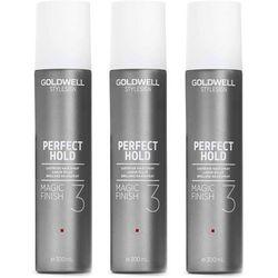 Goldwell StyleSign Perfect Hold Magic Finish   Zestaw: silnie utrwalający spray nabłyszczający 3x300ml