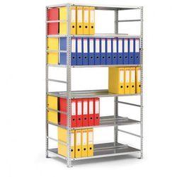 Regał na segregatory COMPACT, ocynk, 8 półek, 2550x1000x600 mm, podstawowy