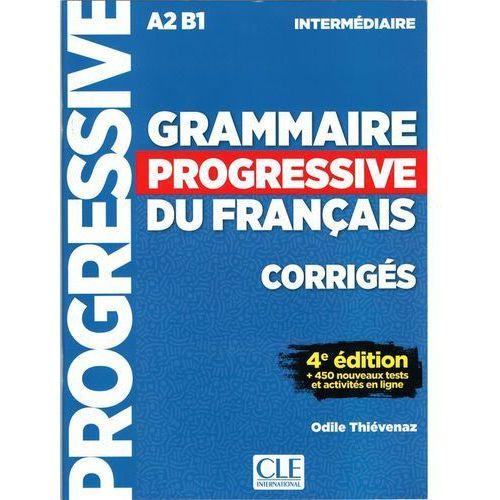 Książki do nauki języka, Grammaire progressive niveau interme.A2 B1 4ed klucz - Odile Thievenaz (opr. miękka)