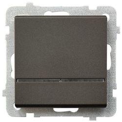Łącznik kontrolny Ospel Sonata ŁP-12RS/M/40 z podświetleniem niebieskim czekoladowy metalik