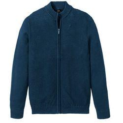 Sweter rozpinany, specjalny wygodny krój bonprix niebieskozielony