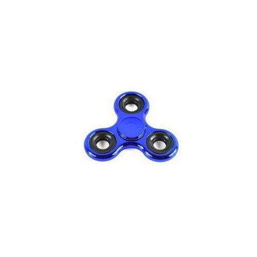 Pozostałe zabawki, Fidget Spinner stalowy połysk metalic niebieski