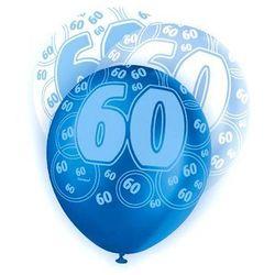 """Balony lateksowe z nadrukiem """"60"""" - mix - 30 cm - 6 szt."""