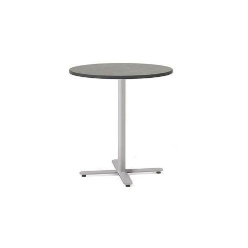 Meble do restauracji i kawiarni, Stół Tilo, Ø700x720 mm, srebrny, ciemnoszary