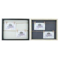 Ramka na 2-zdjęcia 29,5x36,5cm (zdjęcia 2x/15x10cm) 2 kolory