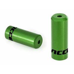 Końcówki pancerza Accent aluminiowe 4mm, przerzutkowe, 100szt. zielone