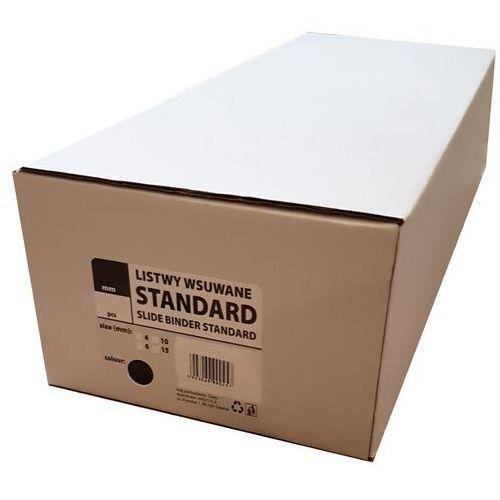 Grzbiety do bindownic, Listwy do bindowania wsuwane standard Argo, czerwone, 4 mm, 50 sztuk, oprawa do 10 kartek - Super Ceny - Autoryzowana dystrybucja - Szybka dostawa - Hurt - Wyceny