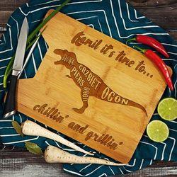 Chillin' and grillin' - deska do krojenia z grawerem - Deska bambusowa