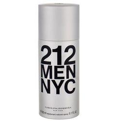Carolina Herrera 212 NYC Men dezodorant w sprayu dla mężczyzn 150 ml + do każdego zamówienia upominek.
