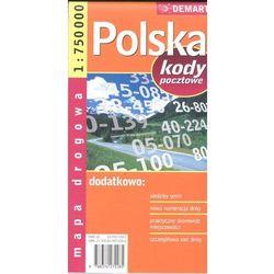 Polska. Mapa samochodowa. Kody pocztowe 1:750 000 (opr. broszurowa)