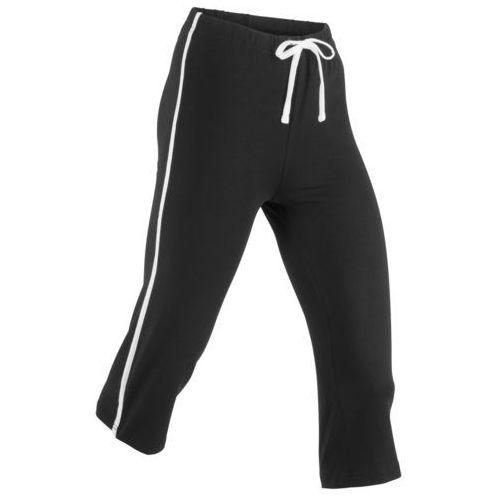 Pozostała odzież sportowa, Rybaczki sportowe ze stretchem, dł. 3/4, Level 1 bonprix czarny