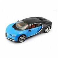 Figurki i postacie, Bugatti Chiron 1/24 niebiesko-czarny