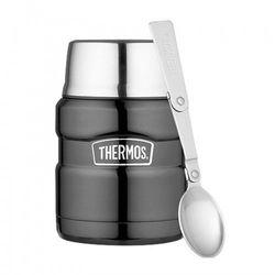 Thermos ® - termos obiadowy ze składaną łyżką - ciemnoszary