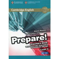 Prepare! 3 Teacher's Book with DVD and Teacher's Resources Online - Wayne Rimmer (opr. miękka)