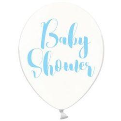Balony przezroczyste na Baby Shower Chłopca - 30 cm - 50 szt.