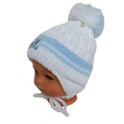 Zimowa czapka niemowlęca z szalikiem, podszyta bawełną, rozmiar: 6 – 12 miesięcy