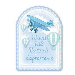 Zaproszenie na roczek Samolocik niebieskie - 1 szt.
