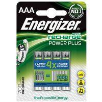 Akumulatorki, Energizer Akumulator Power Plus, AAA, HR03, 1,2V, 700mAh, 4szt. Szybka dostawa! Darmowy odbiór w 20 miastach!