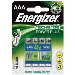 Energizer Akumulator Power Plus, AAA, HR03, 1,2V, 700mAh, 4szt. Szybka dostawa! Darmowy odbiór w 20 miastach!