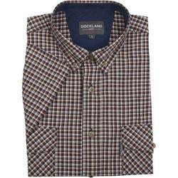 Beżowa koszula Dockland w kratkę, z krótkim rękawem
