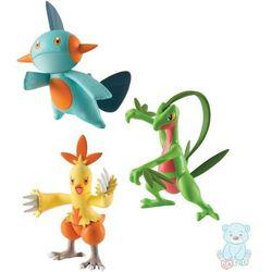 Figurki Pokemon 3-pack Grovyle, Combusken, Marshtomp TOMY