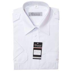 Koszula biała - krótki rękaw - damska