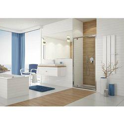 SANPLAST DJ/TX5b Drzwi przesuwne 80x190, profile srebrny połysk, szkło transparentne + Glass Protect 600-271-1030-38-401