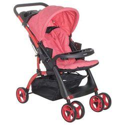Wózek spacerowy z fotelikiem czerwony